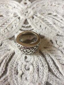 RARE 1996 KIESELSTEIN CORD WEAVE RING Size 6