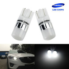 2x 501 T10 W5W 2 SMD SAMSUNG LED Side Indicator Number Plate Light Wedge Bulbs