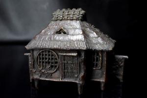 Japanese Antique Hut Shape Bronze Incense Burner Edo Era