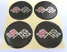 Chevy checkered flag wheel center cap hub cap center decal 63.5mm set of 4