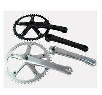 Fixed Gear Crankset 7075 Single Speed Track Bike Cranks CNC 144BCD 49T 170mm