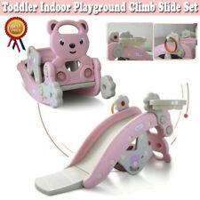 4in1 Toddler In/Outdoor Kids Climber Slide & Rocking Hors Set Playset Playground