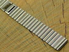 Seiko NOS Vintage Watch Band 15mm Base Metal Unused Butterfly Clasp Ladies Long