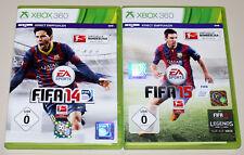 2 XBOX 360 SPIELE SET - FIFA 14 & FIFA 15 - FUSSBALL SOCCER FOOTBALL (16 17)