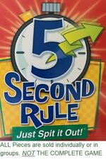 U-PICK 5 SECOND RULE Just Spit it Out parts pieces Box of cards or twisted timer