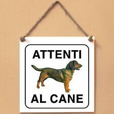 Targa piastrella cartello cane Attenti al cane Alpenländische Dachsbracke 2