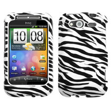 For Wildfire S CDMA, GSM Zebra Skin Hard Snap On Phone Protector Cover Case