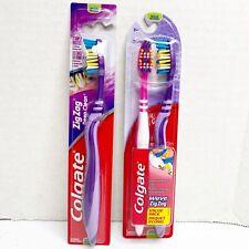 Colgate Zig Zag Toothbrush Medium 2pk + 1 Single Purple & Pink