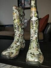 Walls oilfield camo boots rubber size 11 work hunting fishing new