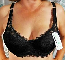 VERY SEXY!!! GYCL BLACK LIGHTLY PADDED SHEER LACE CUPS BRA 36B 38A NWT