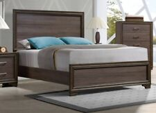 Low Profile Footboard Queen Size Bed Solid Wood Headboard 1pc Bedroom Furniture