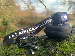 Carp Fishing LED Head Torch. Rechargeable LED Headlamp. Camping Head Torch