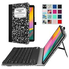 For Samsung Galaxy Tab A 10.1 Tablet Folio Case Cover Stand + Bluetooth Keyboard