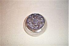 Star / Floral Shape Pewter Potpourri Lid Clear Glass Jar Mint