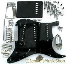 Guitarra las piezas de hardware Negro Stratocaster Pickguard máquina jefes Puente Pastillas