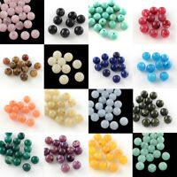 50Pcs Round Imitation Gemstone Acrylic Beads Loose Spacer DIY Jewelry Making 8mm