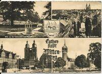 Ansichtskarte Lutherstadt Wittenberg - Wittenberg - 4 Detailfotos -  1962 - s/w
