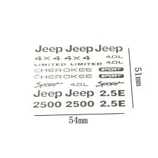 Sticker For 1:10 RC Car Touring Jeep Body Drift Off Road Axial Crawler Scx10 Car