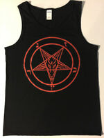 PENTAGRAM TANK TOP T Shirt Satan satanic clothing HEAVY black Metal death S - XL
