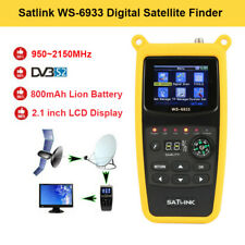 "Satlink WS-6933 FTA 2.1"" DVB-S2 Digital Satellite Meter Detector w/Compass Torch"
