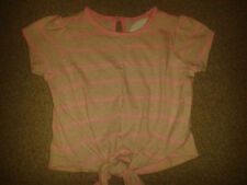 Marks and Spencer Girls' Striped Cotton Blend T-Shirts & Tops (2-16 Years)