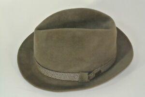 Vintage Dobbs Fedora Hat Felt Mens 7 5/8 Gray