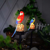 LED Parrot Lawn Light Solar Power Waterproof Garden Landscape Lamp Outdoor Decor