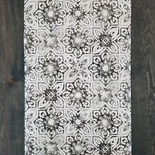 York Patina Vie Vintage Farmhouse Gray Beige Brown Fatima Mosaic Tiles Wallpaper