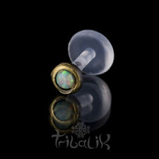 Brass Opalite Labret /Tragus Stud, Tragus Pin, Labret Pin (code 15)