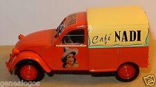 NOREV HACHETTE CITROEN 2CV AZU CAFE NADI 1959 1/43 IN blister BOX NEUF