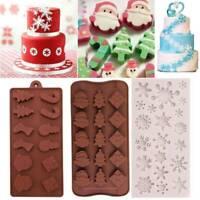 DIY Xmas Snowflake Baking Mold Fondant Cake Chocolate Silicone Mould Tool