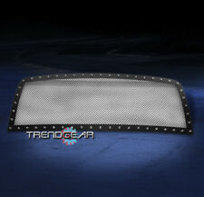 2007-2010 GMC SIERRA 2500/3500 HD FRONT UPPER RIVET BLACK MESH GRILLE 2008 2009