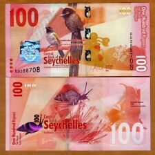 Seychelles, 100 rupees, 2016, P-50, Completely Redesigned, UNC > Birds, Fish