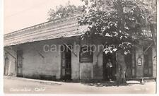 Billiard Saloon Sign Alberding Building COLUMBIA CALIFORNIA Vtg Photo Postcard