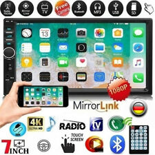 """2 Din Autoradio Stereo Bluetooth MP3 USB AUX IN FM TF 7"""" Touchscreen MP5 Player"""