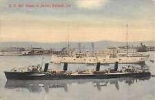 Portland Oregon US War Vessels In Harbor Antique Postcard K56613