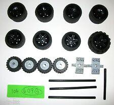 LEGO 37x22 Wheels Black Technic Rims 56145 Set 8053 Tire 55981 30390 Mind Storms