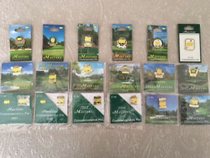MASTERS GOLF COMMEMORATIVE COMPLETE PIN SET 2001-2018 RARE LOT AUGUSTA NATIONAL