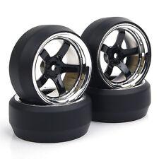 RC 4Pcs 1:10 Drift Car Tires&Wheel Rim 12mm Hex for HSP HPI On-Road model car