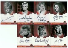 Dr Who & the Daleks invasion earth 2150 AD autograph set of 7 cards