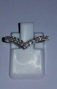925 STERLING SILVER 18K WHITE GOLD PLATED MOISSANITE DIAMOND ENGAGEMENT RING