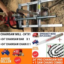 """24��� Mill+24""""Bar + 1 Chain Fit Husqvarna Chainsaw 266 372 394 395XP 365 576 562XP"""