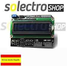 PANTALLA LCD 16X2 CARACTERES 1602 TECLADO KEYPAD AZUL SHIELD ARDUINO P0020