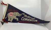 """Vintage Blue 1964 National GOP Convention San Francisco Ca """"I Was There"""" Banner"""