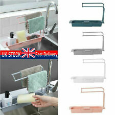 Telescopic Sink Rack Holder Expandable Storage Drain Basket for Kitchen BestTool