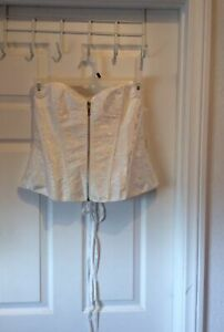Cinch Type Corset White Size 3X Front Zipper Boned Stays Lovely