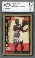 Michael Jordan Card 2008-09 Fleer Glossy #68 Chicago Bulls BGS BCCG 10