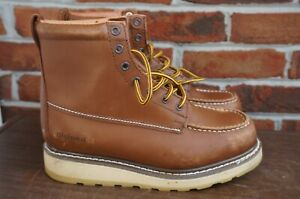 Sears DieHard SureTrack Brown Work Boots 6-inch Soft Toe #84994 Size 9 D
