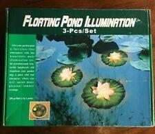 FLOATING POND ILLUMINATION 3 PIECE SET LILY LAMP
