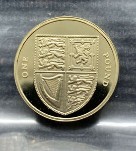 2009 Royal Shield of Arms PROOF £1 pound coin Royal Mint